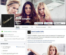 Great Lengths Extensions capelli su Facebook