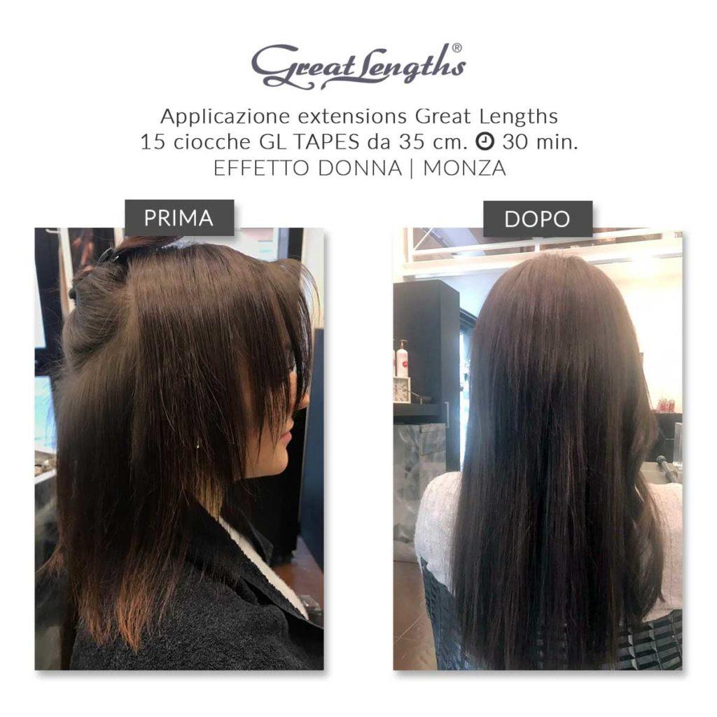 Extension capelli veri monza
