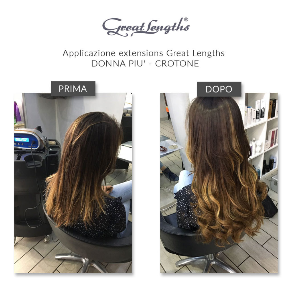 Applicazione extensions Great Lengths | Prima e dopo