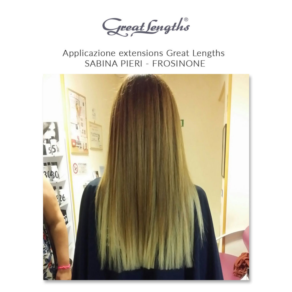 Sabina Pieri | Applicazione extensions Great Lengths a Frosinone